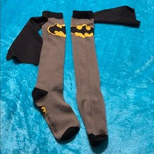 Other - Batman knee high socks with cape